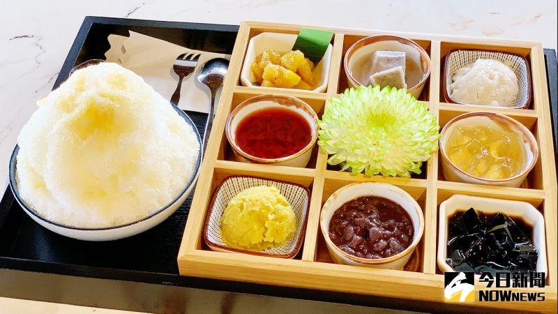 ▲「宮·九枡」猶如日式定食的九宮格八寶冰,視覺很日本、口味很台灣。