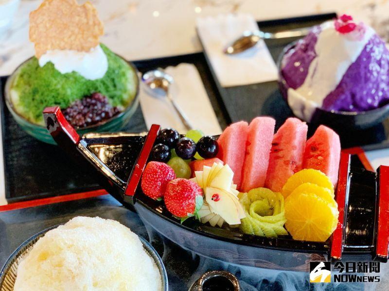▲春田氷亭用創意將冰品、高雄豐富水果、美食甜品以日料手法重新詮釋。