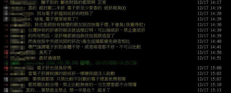 ▲菸害防制法修正草案內容引起PTT網友熱烈討論(圖片/網路)