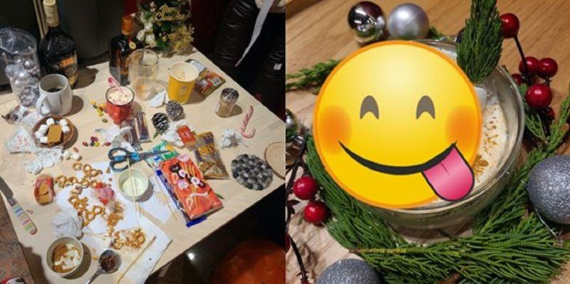 ▲聖誕神人級手作咖啡甜品引瘋傳,竟然使用一杯麥當勞咖啡就全搞定。(圖/翻攝自Dcard)