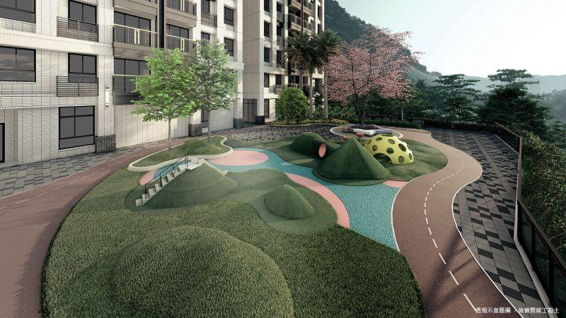 ▲「景自慢」規劃了300坪的中庭運動公園,把PU跑道搬回家,住戶不用出門,在社區就可以跑步。(圖/資料照片)