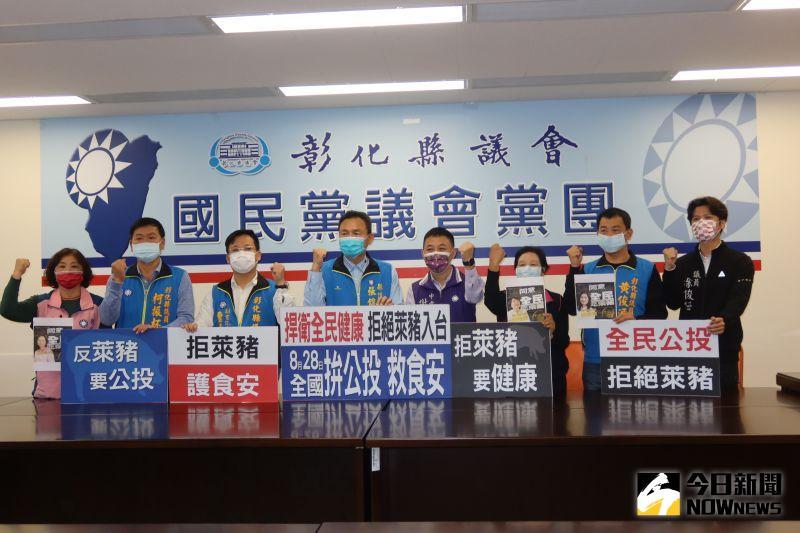 影/國民黨828全國拼公投 宣示拒萊豬救食安