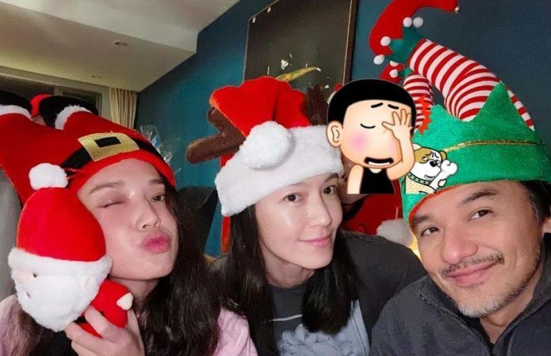 舒淇、馮德倫、林熙蕾共度聖誕 「他」意外亂入被狠批