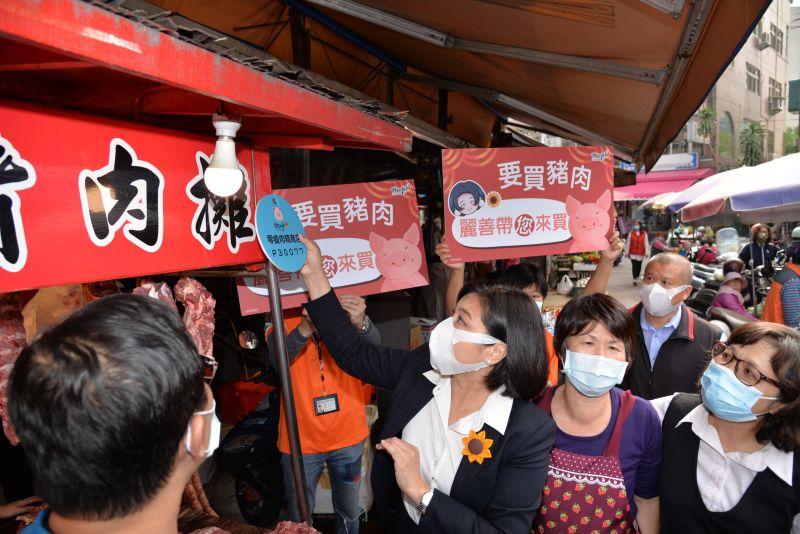 ▲雲林縣推出之「零瘦肉精商店」標章,提供店家申請張貼。(圖/記者洪佳伶攝,2020.12.29)
