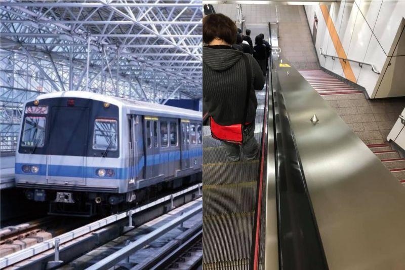 捷運手扶梯旁「一排尖尖的」!真實功能被抖出:根本貼心