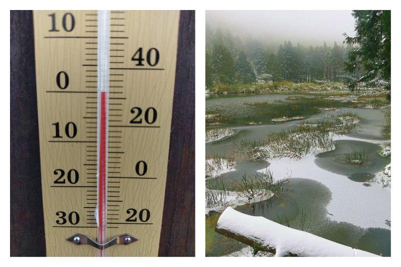 ▲氣象專家預估陽明山的大屯山、桃園拉拉山、宜蘭太平山今(30)午都有降雪的機會。(示意圖/翻攝自《發現陽明山》臉書社團,為2016年陽明山區降雪的照片)