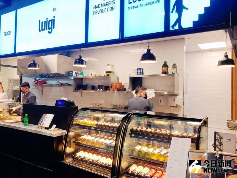 ▲ 大立EATALEE美食街引進台北知名法式餐酒館「Luigi洗衣公司」。 (圖/記者陳美嘉攝)