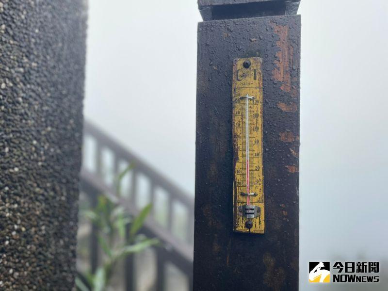 ▲氣象局持續針對全台發布低溫特報,位於陽明山的大屯山氣溫已近冰點,有機會開始降雪。(圖/記者陳致宇攝,2020.12.30)