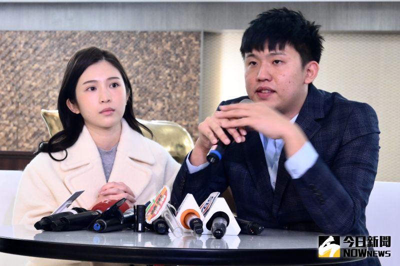 ▲雞排妹、律師王啟任控醫美診所違約使用肖像。(圖/記者林柏年攝)