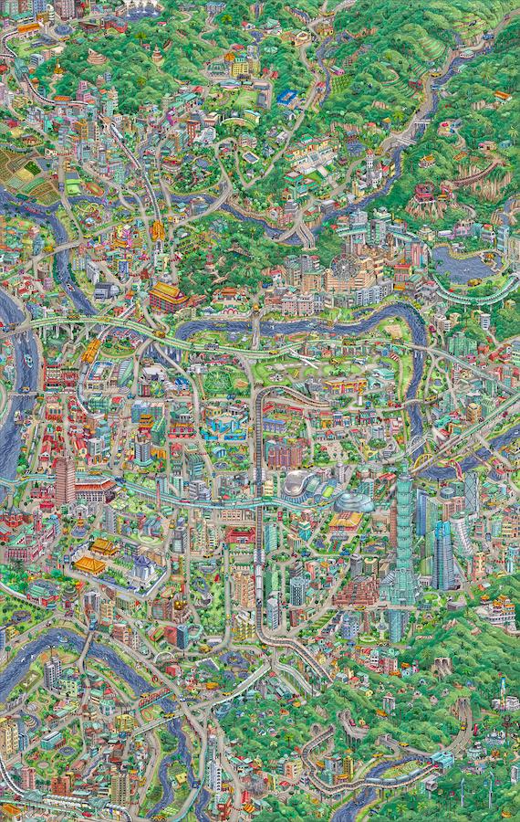 ▲湯帕克的手繪台北地圖