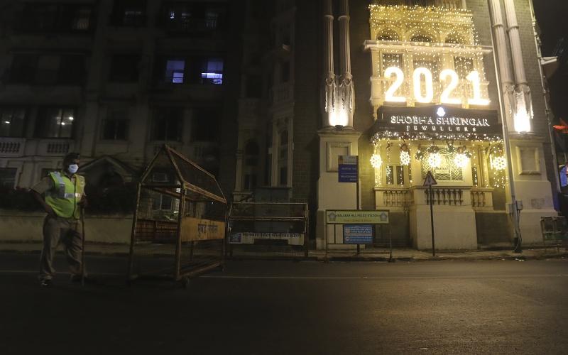 跨年夜防疫 印度各大城下令宵禁