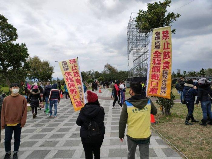 ▲主辦方跟縣政府規劃的很嚴謹,是台灣人也很有秩序。(圖/翻攝自《Dcard》)