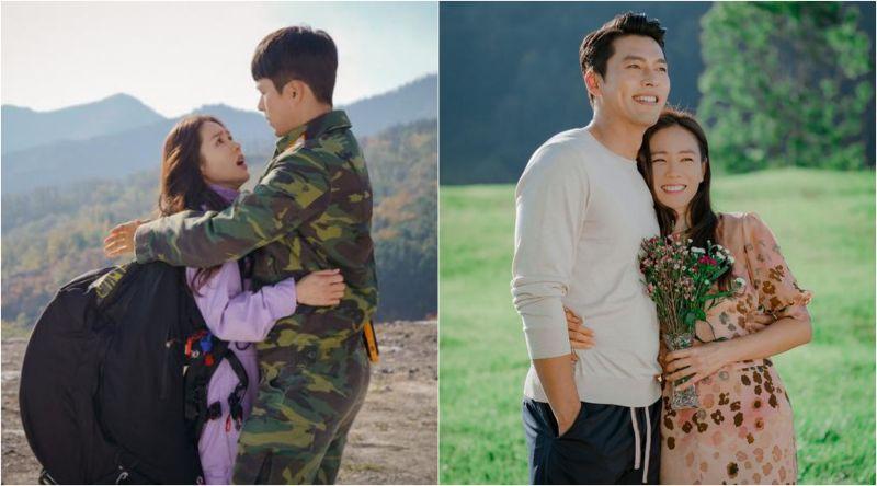 ▲玄彬(左)跟孫藝真因《愛的迫降》在一起。(圖/Netflix)