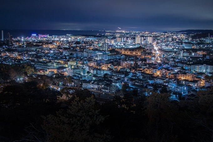 ▲正常版夜景是如此模樣,其實也非常美麗。(圖/翻攝自@kappa_photo的推特)