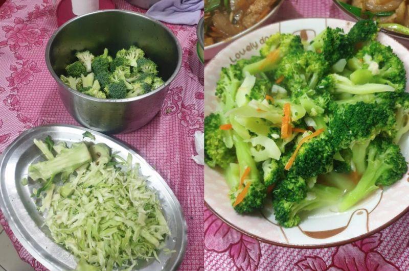 ▲對於原PO的疑問,也有網友分享並發出自己處理花椰菜的照片。(圖/翻攝自《Dcard》)