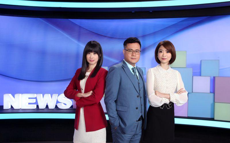 ▲主播曹晏郡(左起)、陳信聰、韓瑩改版節目。(圖/公視提供)