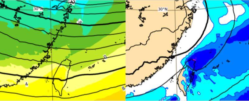 ▲今(4)日北台濕涼有雨,周四至周六(7至9日)寒流南下,北台灣平地最低溫可降至6度。(圖/翻攝自《三立準氣象·