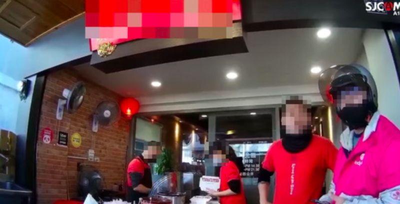 ▲台中一間鴨肉店嗆聲女熊貓,隨後遭到外送員提告。(圖/翻攝爆料公社)