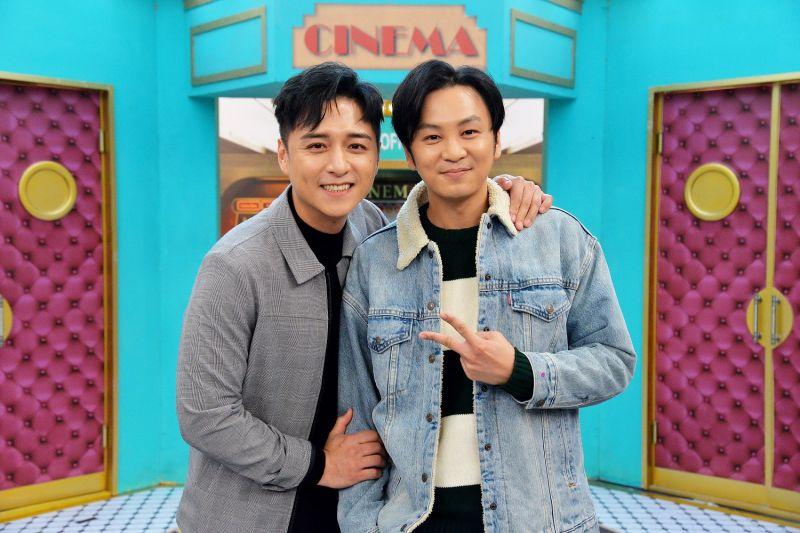 ▲鄭人碩(左)、張書偉拍電影結緣。(圖/衛視)
