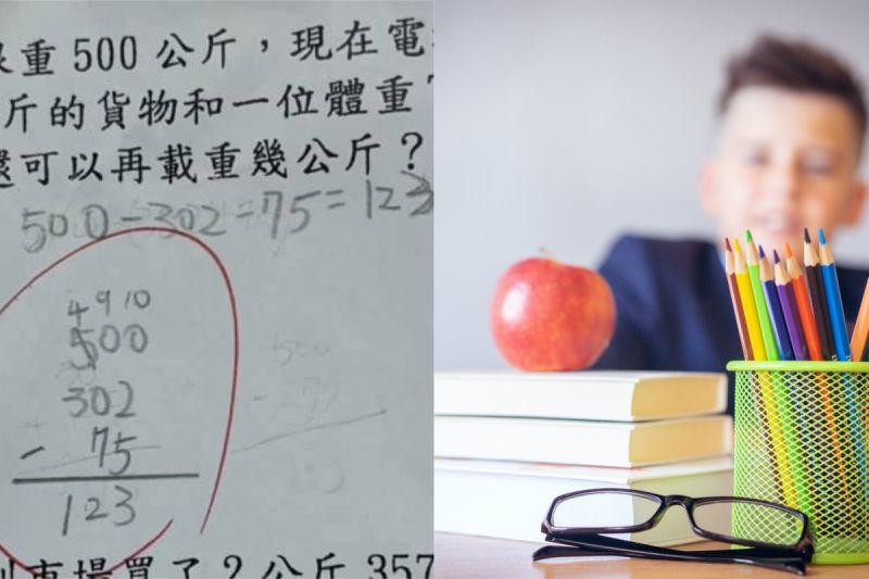▲有網友發現,小孩的數學考卷明明答案是對的,卻被老師扣分,讓她相當困惑。(示意圖/翻攝自《爆廢公社二館》及《pixabay》 )