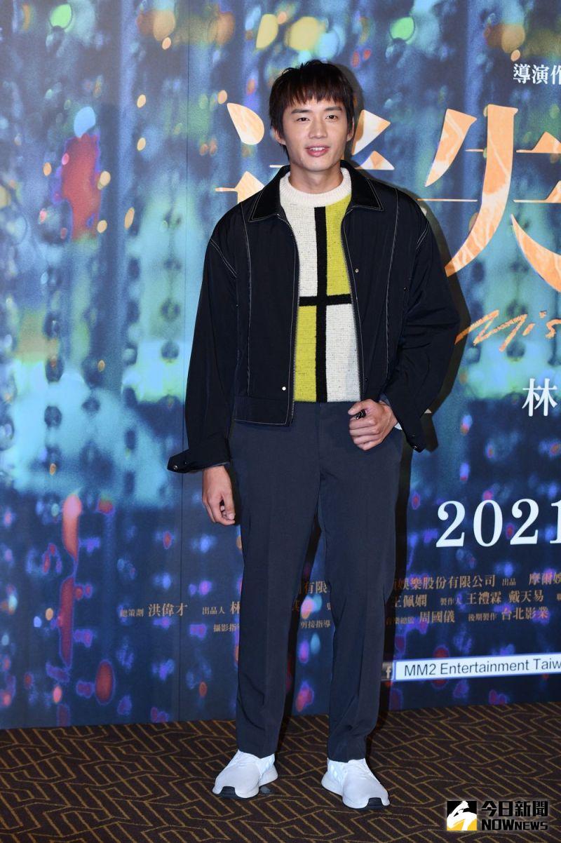 ▲陳澤耀隔離14天出席首映會。(圖/記者林柏年攝)