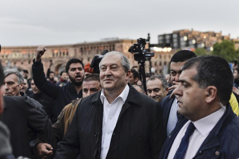 ▲亞美尼亞總統薩奇席恩的辦公室今天表示,薩奇席恩確診(圖/美聯社/達志影像)