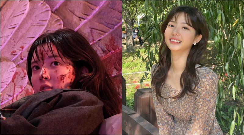 ▲趙秀敏因在《上流戰爭》慘死爆紅,獲封「最美女配」稱號。(圖/SBS、趙秀敏IG)