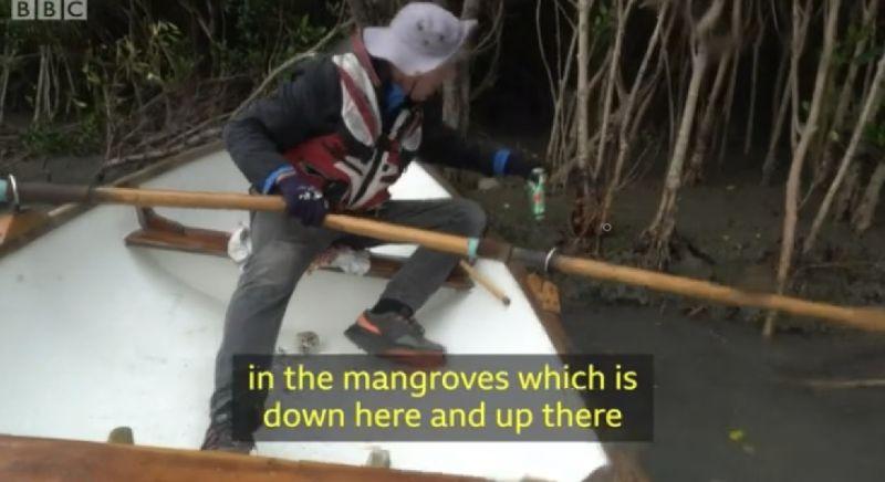▲▲英國帆船玩家彼得·洛伊(PeterLowe)因疫情被困在台灣。(圖 翻攝自BBC影片)