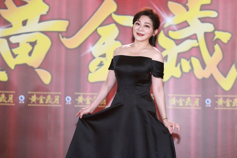 ▲王彩樺今(6)日出席《黃金歲月》開鏡記者會。(圖