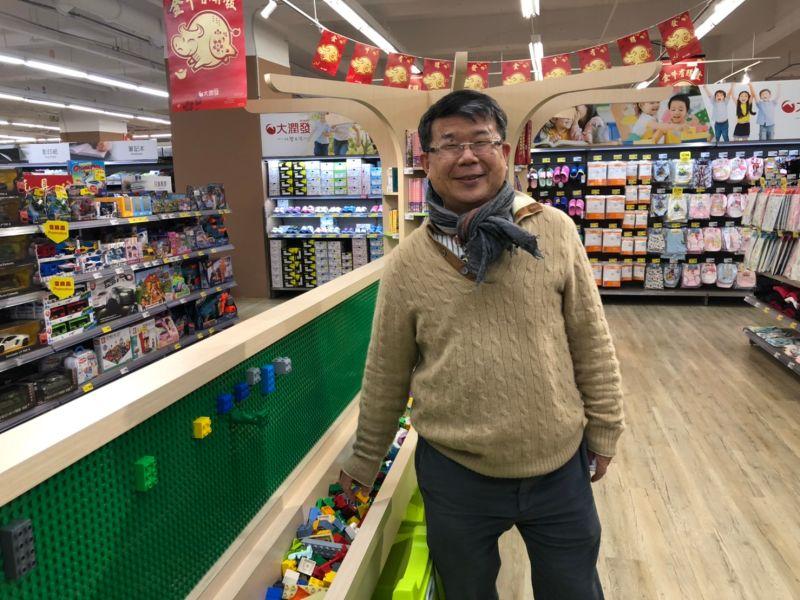 ▲潤泰全球總經理徐志漳,帶領媒體參觀大潤發中和店體驗區。(圖/記者劉雅文拍攝)