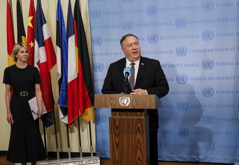 ▲美國國務卿蓬佩奧(Mike Pompeo)今(7)日宣布,美國駐聯合國大使克拉夫特(Kelly Craft)將訪問台灣。