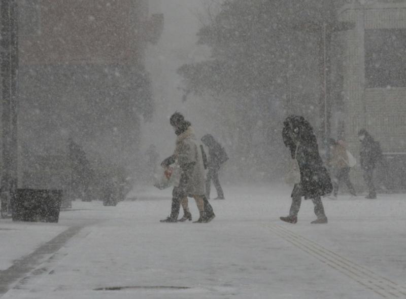 ▲日本多地近日都迎來大風雪。(圖/美聯社/達志影像)
