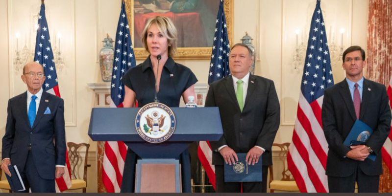 ▲美駐聯合國大使克拉芙特(左二),將在近期來到台灣訪問。(圖/翻攝推特Kelly
