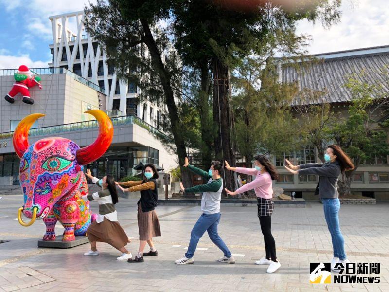 ▲接「牛氣」!迎接新牛年。(圖/記者陳雅芳攝,2021.01.08)