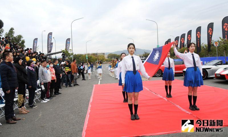 ▲開幕典禮邀請國立彰化高商樂儀隊表演。(圖/記者陳雅芳攝,2021.01.09)