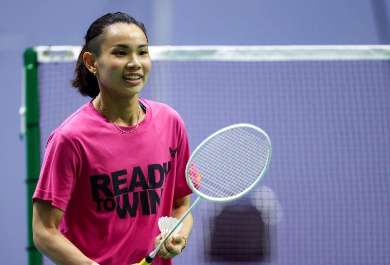 ▲超級1000系列泰國公開賽12日開戰,戴資穎在當地場館進行訓練。(圖/Badminton photo提供)