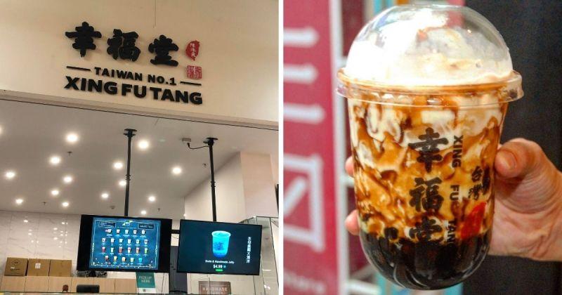 幸福堂珍奶在海外15國設有分店。(圖|Reddit/幸福堂Instagram)