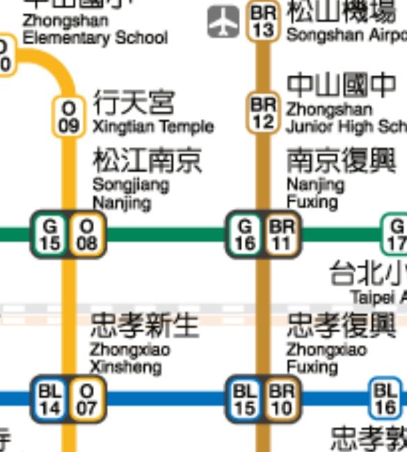 ▲他下車後才發現,這站竟然還是松江南京。(圖/翻攝自《台北捷運》官網