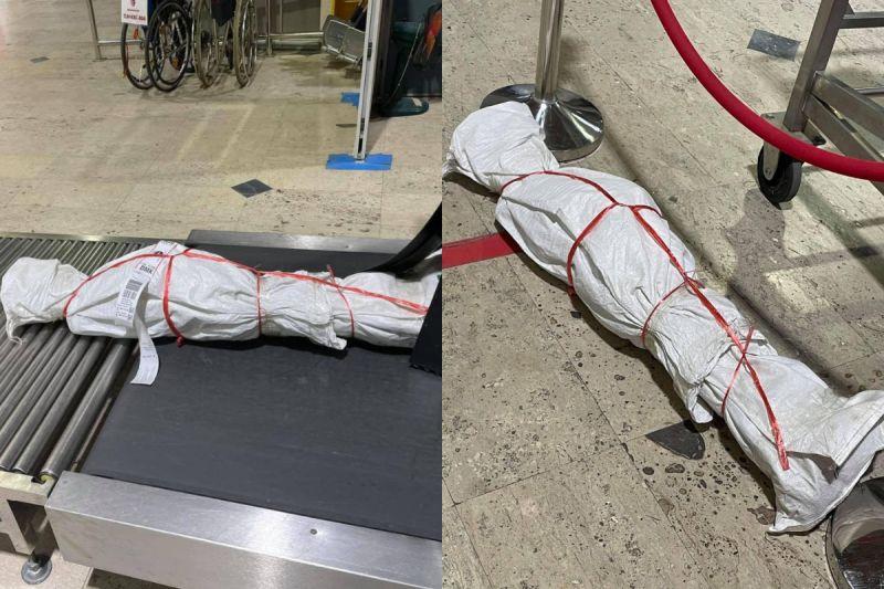 泰航<b>託運</b>處驚現人型包裹!海關人員揭內容物竟是這個