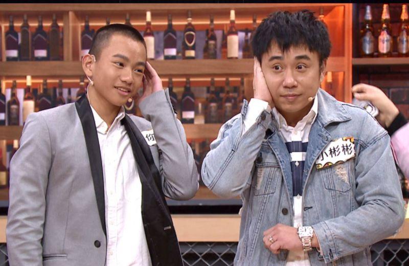 ▲迷你彬想跟隨爸爸小彬彬(右)當演員。(圖/TVBS)