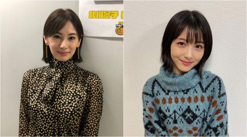 ▲北川景子(左)與濱邊美波相差14歲,是不少網友心目中的女神。(圖/官網stardust、濱邊美波IG)