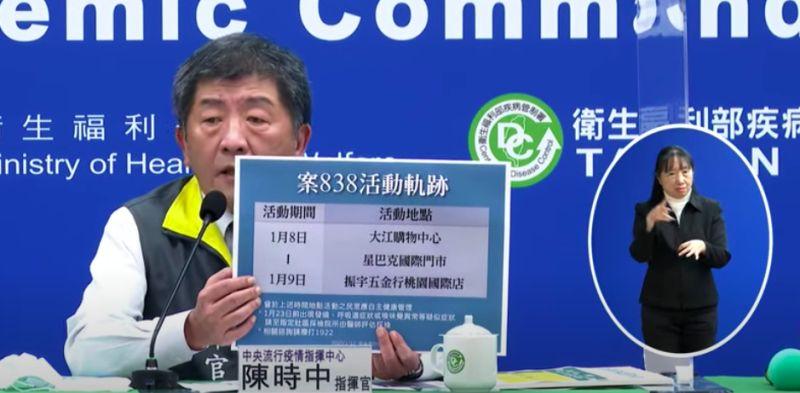 染疫醫師足跡修正!指揮中心:1月8日未去<b>大江購物中心</b>