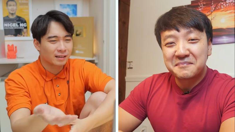 ▲Uncle Roger與美食YouTuber陳興合作影片。(圖/翻攝自mrnigelng YouTube)