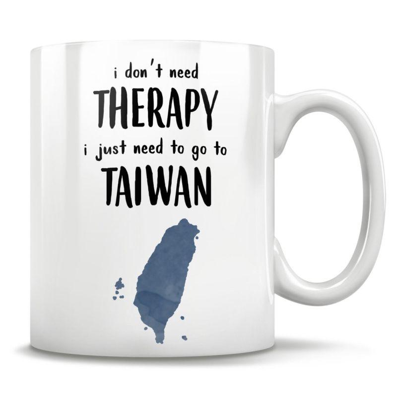 ▲商品上印有「我不需要治療,只需要去台灣(i