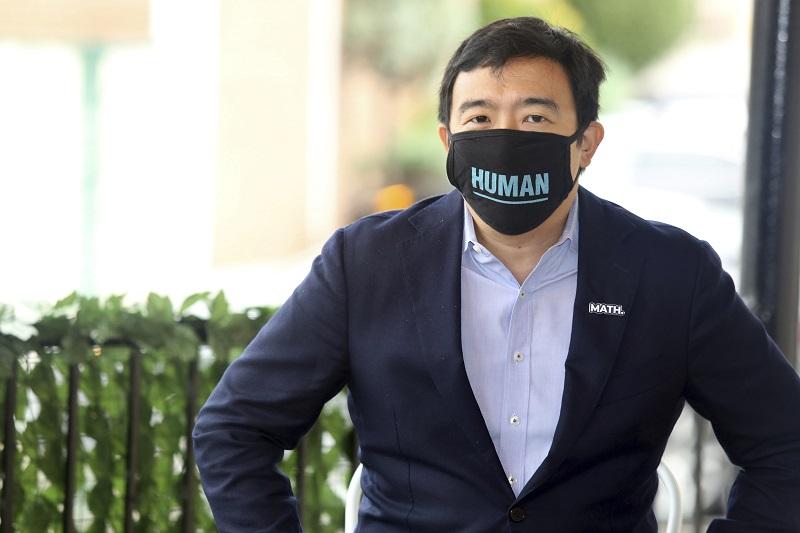 ▲台裔企業家楊安澤宣布競選紐約市長。(圖/美聯社/達志影像)