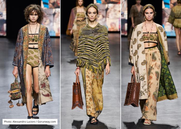 ▲▲▲峇里島政府近日和精品品牌迪奧(Dior)合作推廣當地傳統的手工編織布料「kain