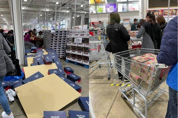 ▲有網友目睹美式賣場暖暖包上架後,民眾搶購的過程。(圖/翻攝《COSTCO好市多消費經驗分享區》)