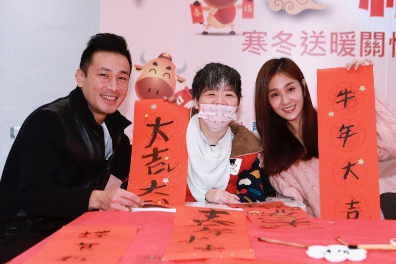 ▲傅子純(左)有穩定交往9年的女友。(圖