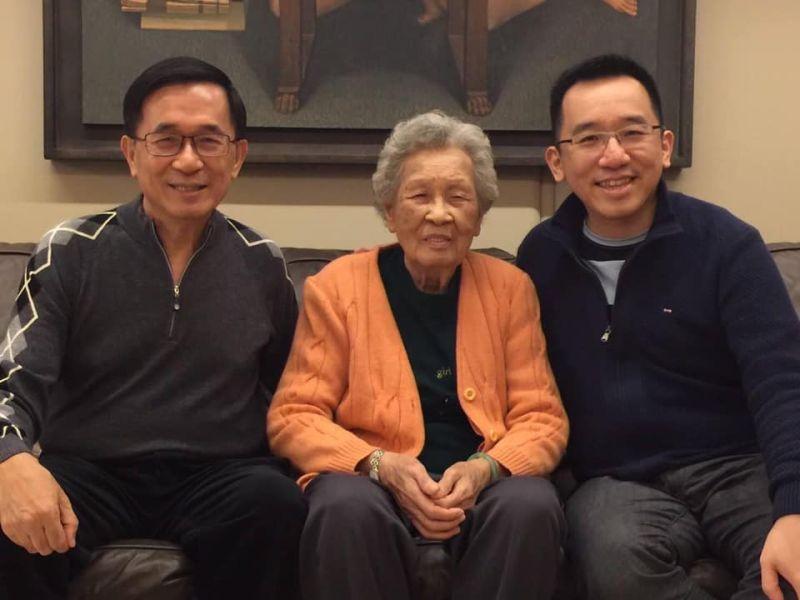 前總統陳水扁的母親陳李慎病逝,家屬決定將擇日舉行簡單家祭,不再辦理追思告別式。(圖/翻攝自陳致中臉書)