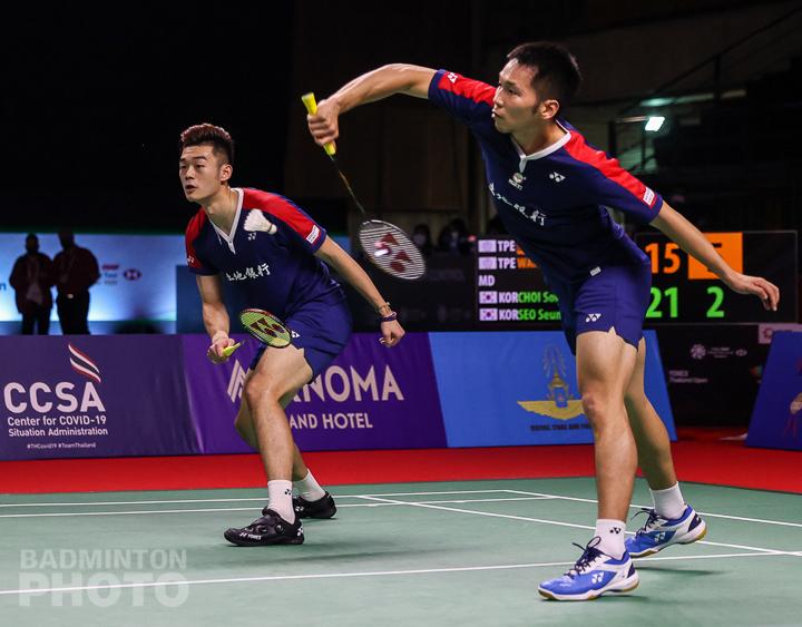 ▲我國第一男雙,世界排名第7的「麟洋配」王齊麟/李洋順利挺進泰國賽4強。(圖/Badminton photo提供)